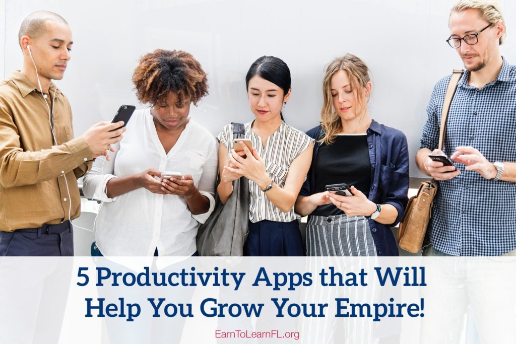5 Productuvity Apps that Will Help You Grow Your Empire